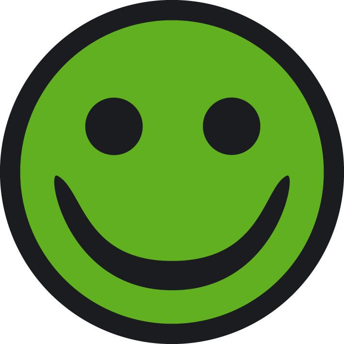 Grøn smiley for stedets kvalitet og medarbejdernes kompetencer.